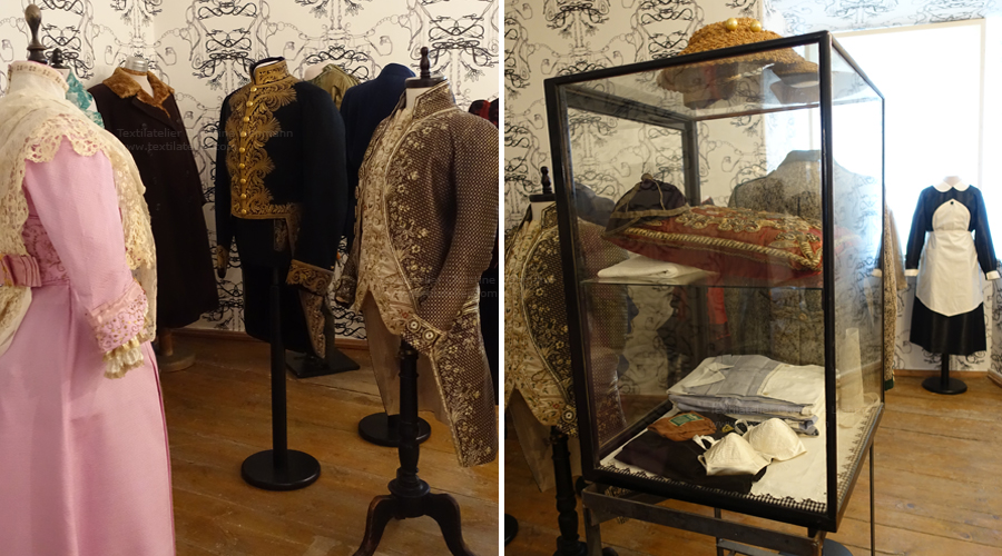 Schloss Aichberg: Restaurierte Textilien in der Dauerausstellung