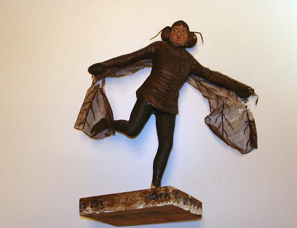 Grazmuseum: Figur von J.N. Nestroy vor der Restaurierung
