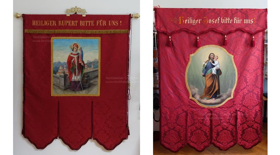 Pfarre St. Ruprecht an der Raab: Rekonstruierte Fahnen