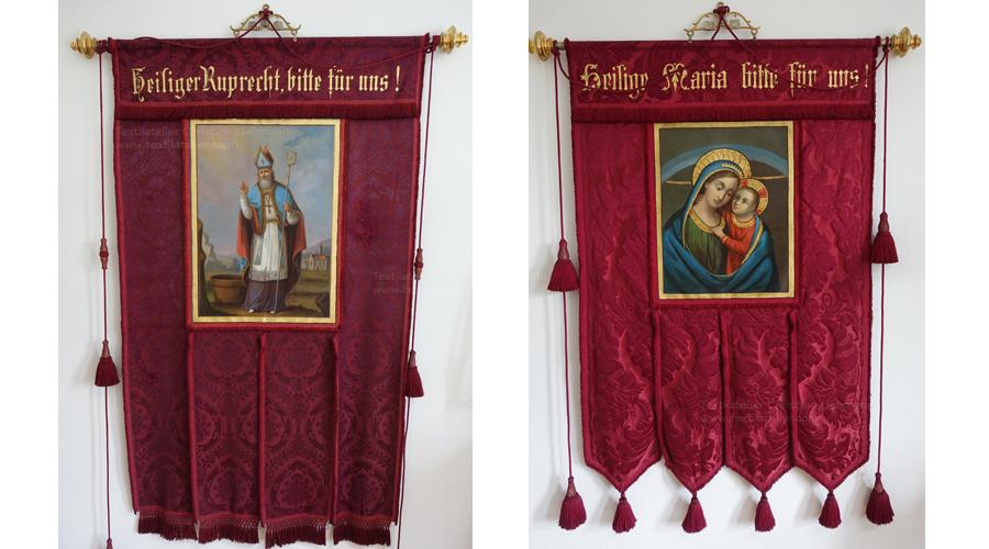 Pfarre St. Ruprecht an der Raab: Restaurierte Fahnen