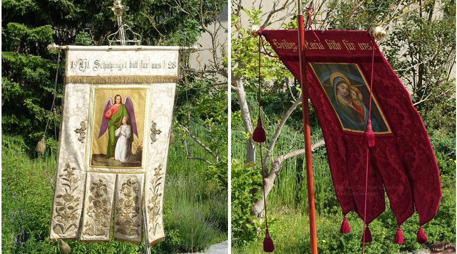 Pfarre St. Ruprecht an der Raab: Restaurierte Fahnen bei Fronleichnamsprozession