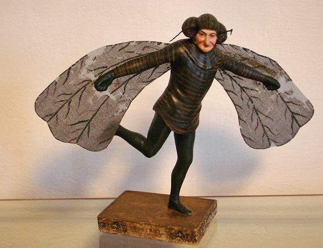 Grazmuseum: Figur von J.N. Nestroy nach der Restaurierung