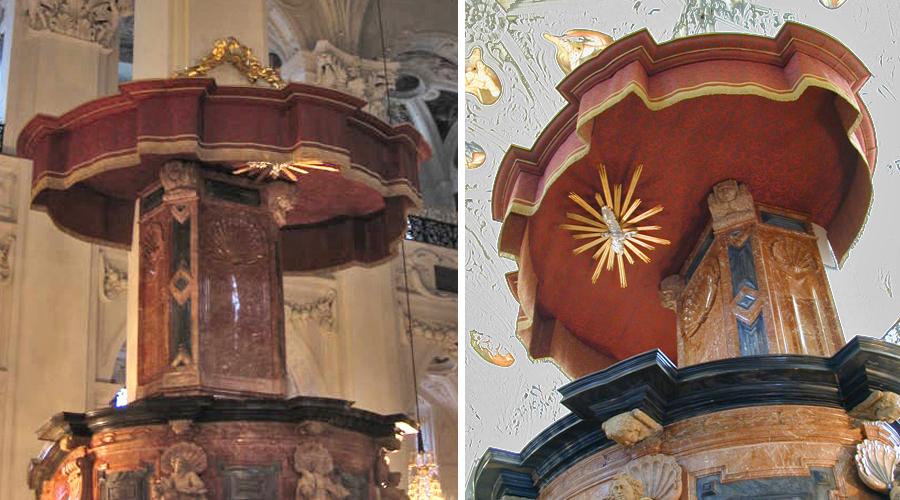 Basilika Mariazell: Rekonstruktion des Schalldaches der Kanzel