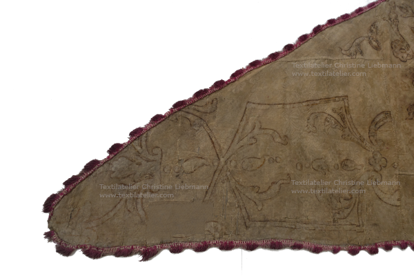 Diözesanmuseum Eisenstadt: Detail der Winzerfahne nach der Konservierung